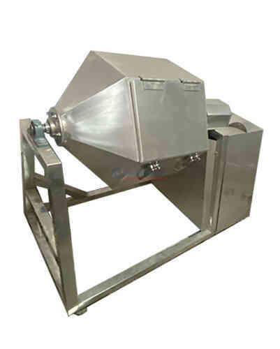 máy trộn bột khô 50kg dạng lục giác inox anh đức